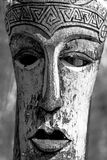 Carved mask in Black and White Royalty Free Stock Images