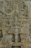 Carved Mayan stones, Quirigua ruins, Guatemala royalty free stock images