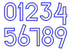 Carved numbers 0-9 Stock Photography