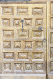 Carved oak door Royalty Free Stock Photos