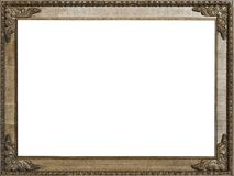 Carved Oak Picture Frame 4:3 Stock Photo