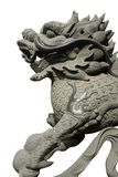 Carved oriental dragon. On white background Royalty Free Stock Images