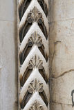 Carved ornaments on a medieval portal Stock Photography