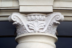 Carved part of the supporting column Stock Photography