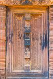 The carved pattern  of this Banteay  Srei castle wall. The carved pattern  of this Banteay  Srei castle wall, Which this castle is the most  beautiful  in stock photography