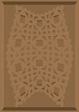 Carved pattern on cardboard. Royalty Free Stock Photography