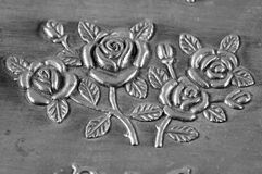 Carved pattern of jewelry box Stock Photos