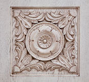 Carved pattern on wood Royalty Free Stock Photos
