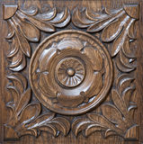Carved pattern on wood. Element of decor Royalty Free Stock Images