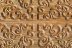Carved pattern on wood background Stock Image