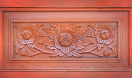 Carved pattern on wood Stock Images