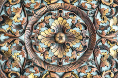 Carved pattern on wood, element of decor Royalty Free Stock Images