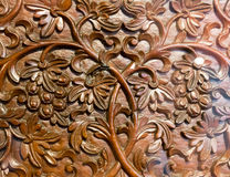 Carved pattern on wood Royalty Free Stock Photo