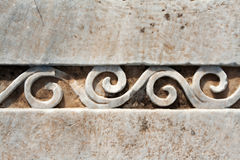 Carved Patterns In Marble Royalty Free Stock Image