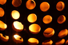 Carved and Perforated Coconut Lamp Stock Images