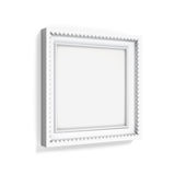 Carved picture frame isolated on white background. 3d rendering Stock Photos