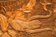 Carved picture of handwork Royalty Free Stock Photo