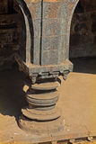 Carved pillar, Teen darwaza panhala fort Royalty Free Stock Photo