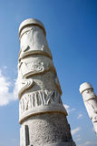 Carved pillars Royalty Free Stock Photos