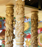 Carved pillars Royalty Free Stock Photography
