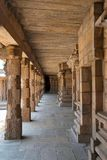 Carved pillars of the north side cloister, Airavatesvara Temple, Darasuram, Tamil Nadu Royalty Free Stock Photography