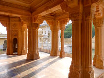 Carved pillars in Royal cenotaphs in Jaipur, Rajasthan, India Stock Photography