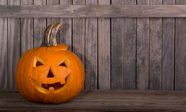 Carved pompkin Stock Photography