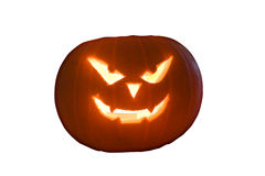 Carved pumpkin. A pumpkin carved with a spooky image for Halloween Royalty Free Stock Image