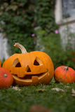 Carved Pumpkin Royalty Free Stock Image