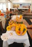 Carved Pumpkin Display Stock Photo
