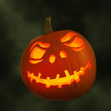 Carved Pumpkin For Halloween Stock Photography