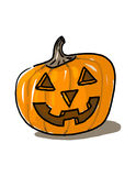 Carved pumpkin illustration Stock Photos