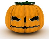 Carved pumpkin Jack o Lantern Royalty Free Stock Photos