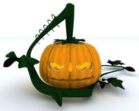 Carved pumpkin Jacko Lantern Royalty Free Stock Photography