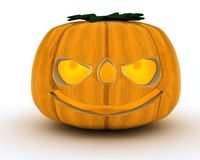 Carved pumpkin Jacko Lantern Stock Photography