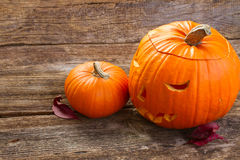 Carved pumpkin Stock Image