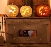 Carved Pumpkins Stock Image