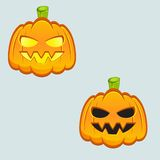 Carved pumpkins. Colored carved pumpkins. Vector illustration stock illustration