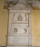 Carved relief at San Gregorio Magno al Celio church in Rome Stock Image