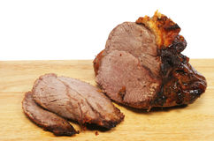 Carved roast beef Royalty Free Stock Photo
