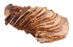 Carved Roast Beef Joint Stock Photo