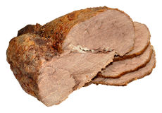 Carved Roast Beef Royalty Free Stock Photography