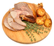 Carved Roast Leg Of Lamb Royalty Free Stock Images