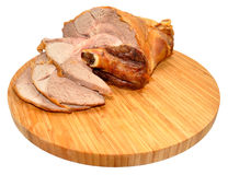 Carved Roast Leg Of Lamb Stock Photography