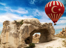 Carved rock in Cappadocia, Turkey Stock Image