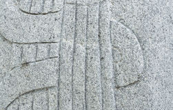 Carved Rock with Music String Pattern Texture Stock Photography