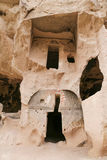 Carved Rooms in Zelve Valley, Cappadocia Royalty Free Stock Photos