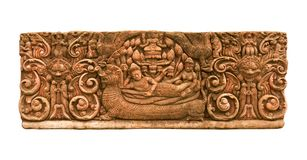Carved sandstone  king bed 1 Royalty Free Stock Image