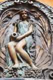 Carved and sculpture statue angel guardian European style Royalty Free Stock Photo