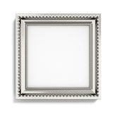 Carved silver picture frame on white background. 3d rendering Royalty Free Stock Photos